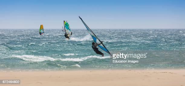 Tarifa Costa de la Luz Cadiz Province Andalusia southern Spain Windsurfing Tarifa is nicknamed the Wind Capital of Europe
