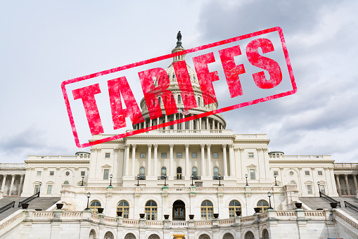 Tariff Stamp on United States Capitol 943893624