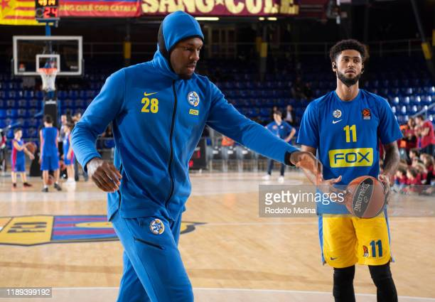 Deni Avdija #8 of Maccabi Fox Tel Aviv arriving to the arena prior the 2019/2020 Turkish Airlines EuroLeague Regular Season Round 10 match between FC...
