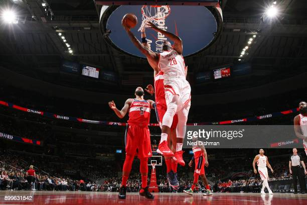 Tarik Black of the Houston Rockets dunks against the Washington Wizards on December 29 2017 at Capital One Arena in Washington DC NOTE TO USER User...