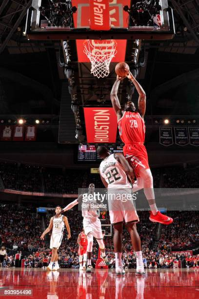 Tarik Black of the Houston Rockets shoots the ball against the Milwaukee Bucks on December 16 2017 at the Toyota Center in Houston Texas NOTE TO USER...