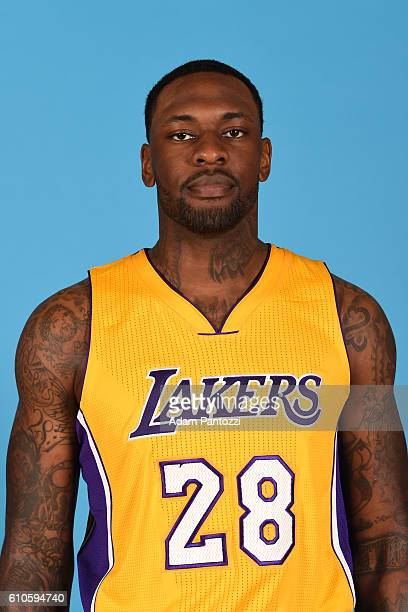 Tarik Black of the Los Angeles Lakers poses for a headshot during 20162017 Los Angeles Lakers Media Day at Toyota Sports Center on September 26 2016...