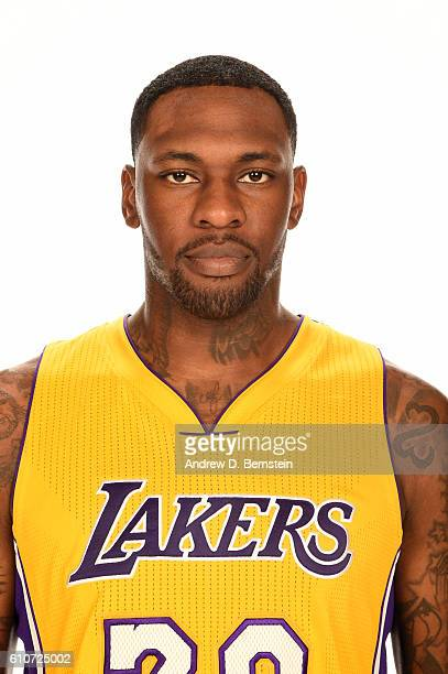 Tarik Black of the Los Angeles Lakers poses for a portrait during the 20162017 Los Angeles Lakers Media Day at Toyota Sports Center on September 26...