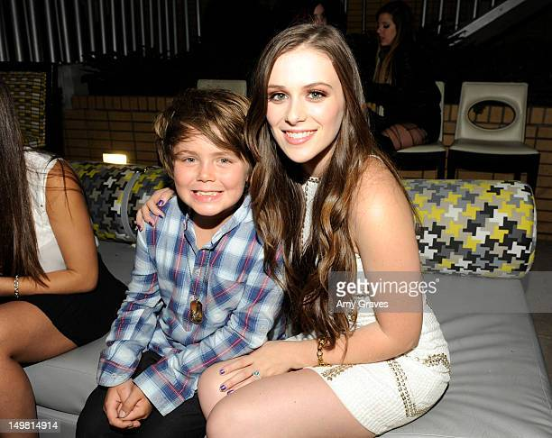Tarik Ellinger and Caitlin Beadles attend the Surprise Party for Caitlin Beadles and the Launch of Caitlin's Foundation Caitlin's Vine of Bravery at...