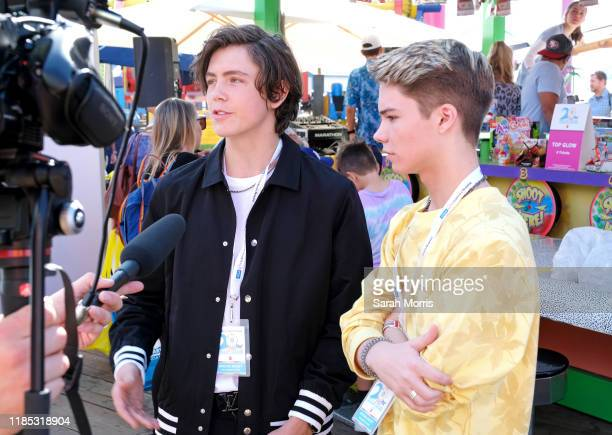Tarik Ellinger and Connor Finnerty attend UCLA Mattel Children's Hospital's 20th Annual Party on the Pier at Pacific Park – Santa Monica Pier on...