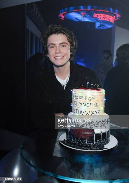 Tarik Ellinger attends his 16th Birthday Party In The Upside Down at Starwest Studios on December 13 2019 in Burbank California