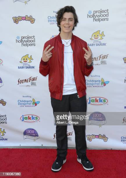 Tarik Ellinger attends Project Hollywood Helpers held at the Skirball Cultural Center on November 16 2019 in Los Angeles California