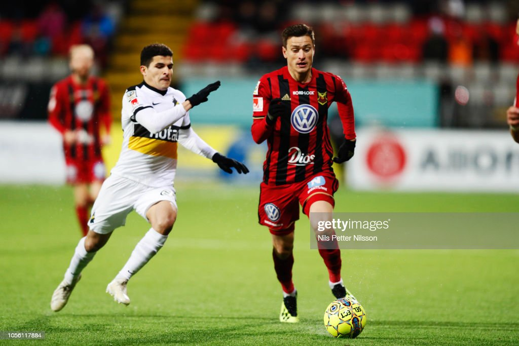 Tarik Elyounoussi Of AIK And Jamie Ryan Hopcutt Of