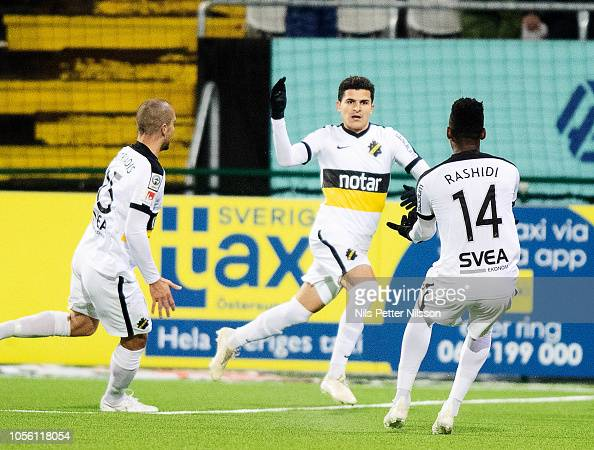 Tarik Elyounoussi Of AIK Celebrates After Scoring To 0-2
