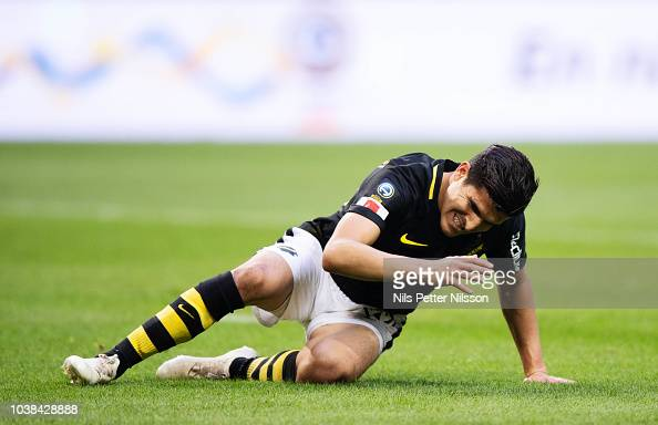 Tarik Elyounoussi Of AIK Dejected During The Allsvenskan