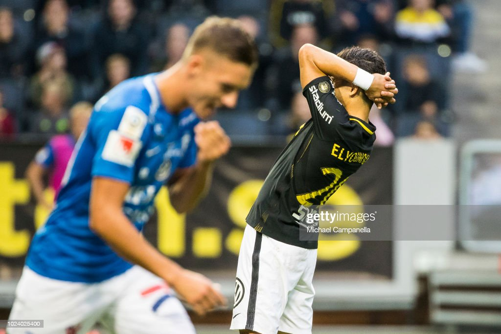 Tarik Elyounoussi Of AIK Reacts After A Missed Chance On