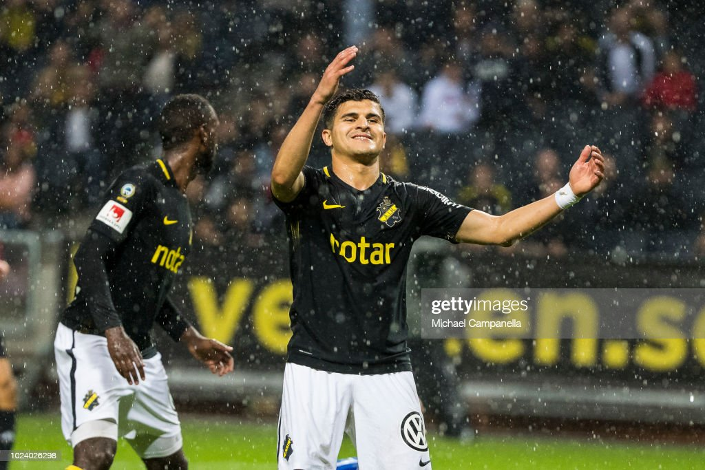 Tarik Elyounoussi Of AIK Reacts After A Missed Shot On