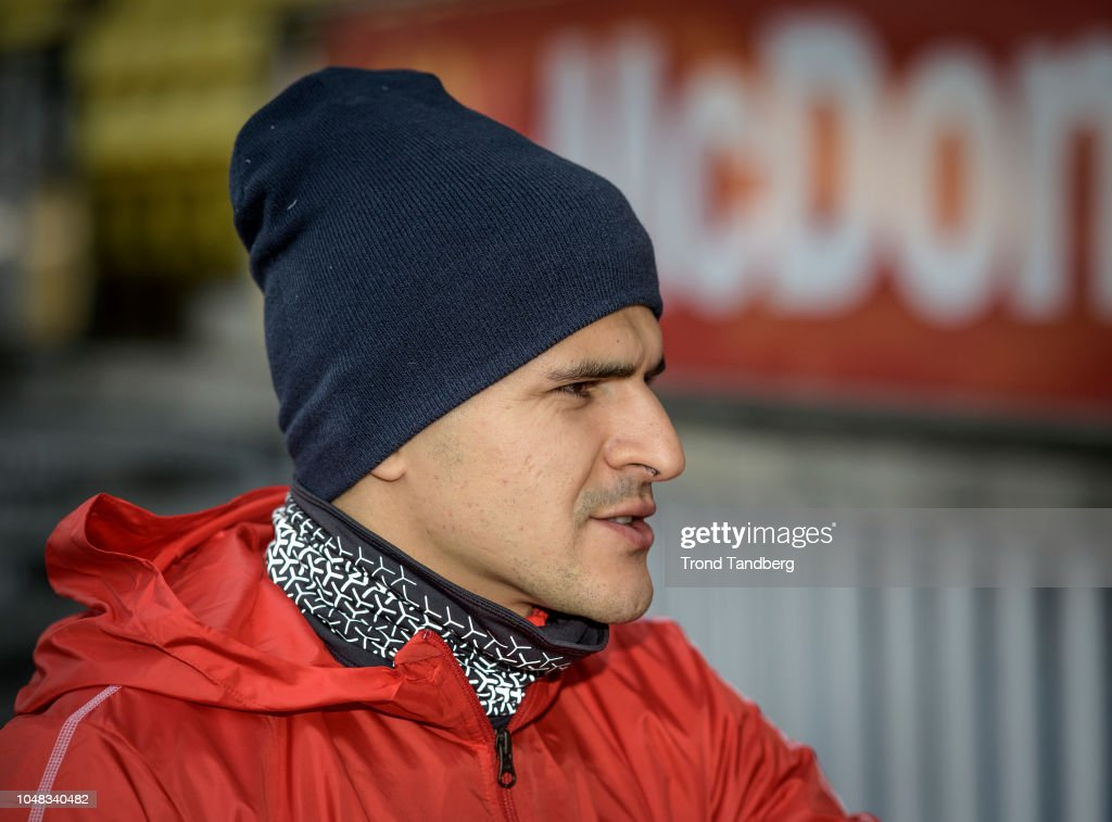 Tarik Elyounoussi Of Norway During Training Before The