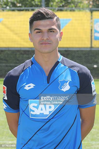 Tarik Elyounoussi poses during the offical team presentation of TSG 1899 Hoffenheim on July 19 2016 in Sinsheim Germany