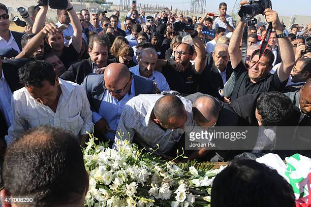 Tariq Aziz former Iraqi deputy prime minister and top aide of Saddam Hussein is laid to rest at Al Khuloud cemetery on June 13 2015 near the city of...