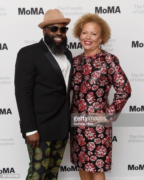Tariq 'Black Thought' Trotter and Chief Executive Officer of BET Debra Lee attend the 2018 Modern Jazz Social at Museum of Modern Art on April 3,...