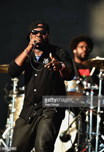 Tariq 'Black Thought' Trotter of the roots performs onstage at the 2014 Global Citizen Festival to end extreme poverty by 2030 in Central Park on...