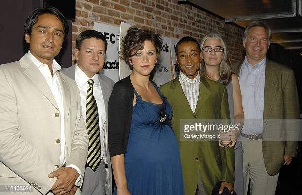Tariq Dag Khan of Blackbook Magazine Ted Sarandos of Netflix Maggie Gyllenhaal Giancarlo Esposito Laurie Collyer writer/director and Jonathan Sehring...