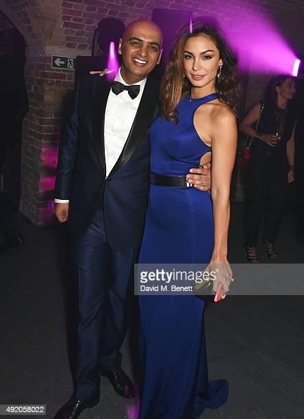 Tariq Khan attends Eva Cavalli's birthday dinner party at One Mayfair on October 9 2015 in London England