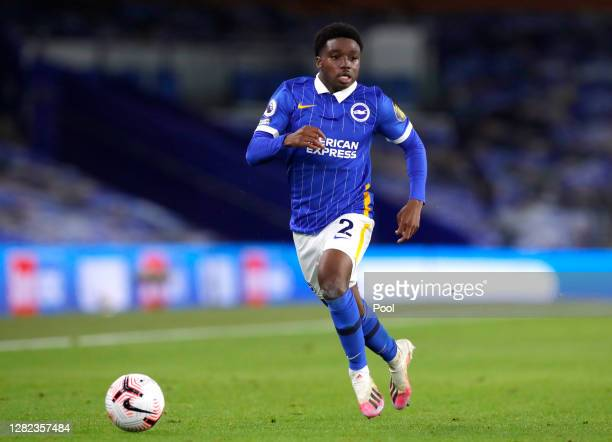 Tariq Lamptey of Brighton and Hove Albion during the Premier League match between Brighton & Hove Albion and West Bromwich Albion at American Express...