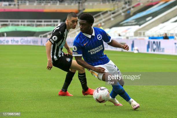 Tariq Lamptey of Brighton and Hove Albion in action during the Premier League match between Newcastle United and Brighton & Hove Albion at St. James...