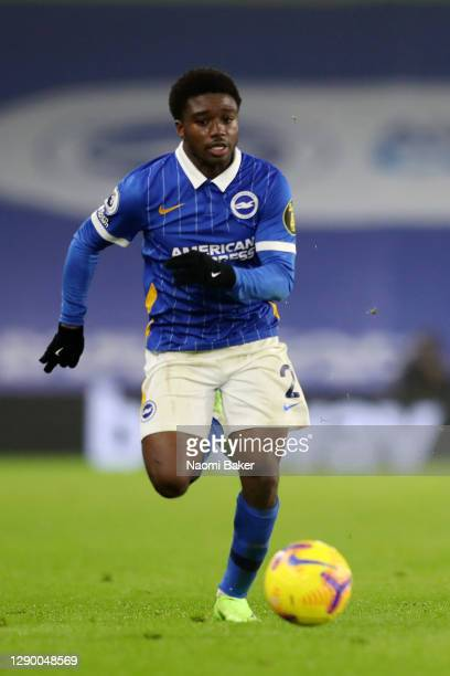 Tariq Lamptey of Brighton and Hove Albion in action during the Premier League match between Brighton & Hove Albion and Southampton at American...