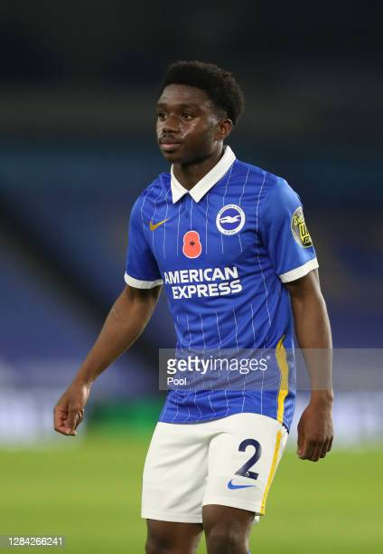 Tariq Lamptey of Brighton and Hove Albion looks on during the Premier League match between Brighton & Hove Albion and Burnley at American Express...