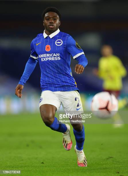 Tariq Lamptey of Brighton and Hove Albion runs on during the Premier League match between Brighton & Hove Albion and Burnley at American Express...