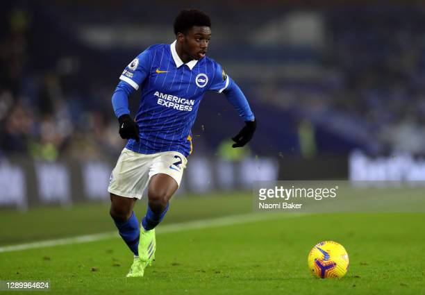 Tariq Lamptey of Brighton & Hove Albion runs with the ball during the Premier League match between Brighton & Hove Albion and Southampton at American...