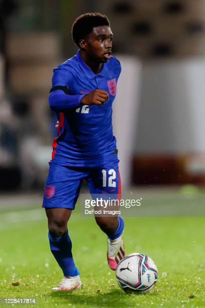 Tariq Lamptey of England controls the ball during the UEFA Euro Under 21 Qualifier match between Austria U21 and England U21 at Keine Sorgen Arena on...