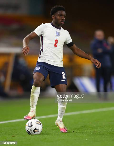Tariq Lamptey of England during the UEFA Euro Under 21 Qualifier match between England U21 and Andorra U21 at Molineux on November 13, 2020 in...