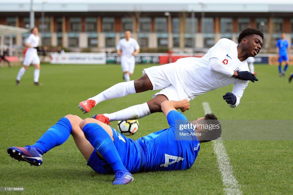 GBR: Greece U19 v England U19 - UEFA U19 Championship Qualifier