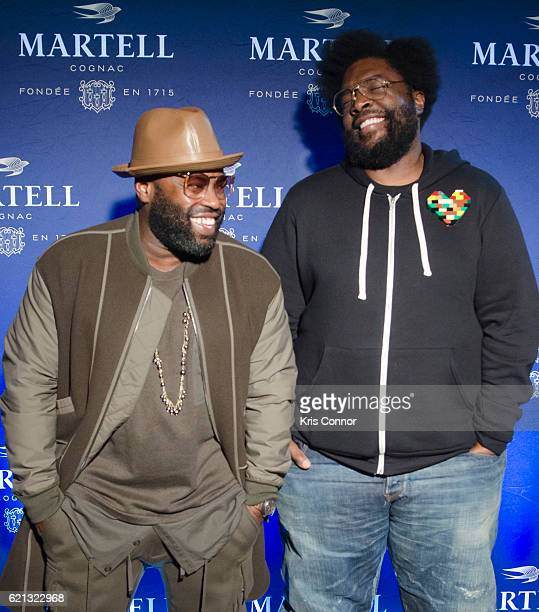 Tariq Luqmaan Trotter aka Black Thought and Ahmir Khalib Thompson aka Quest Love pose for a photo during HOME in DC with Martell Cognac at Union...
