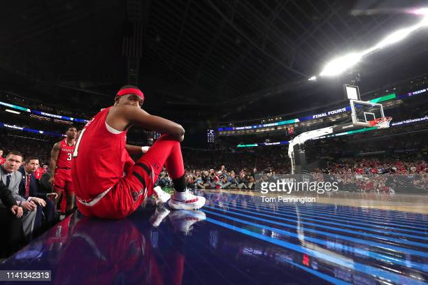 Tariq Owens of the Texas Tech Red Raiders looks on against the Virginia Cavaliers in the second half during the 2019 NCAA men's Final Four National...