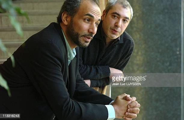 Tariq Ramadan And Aziz Zemouri Present Their Book 'FautIl Faire Taire Tariq Ramadan' On January 26Th 2005 In Paris France