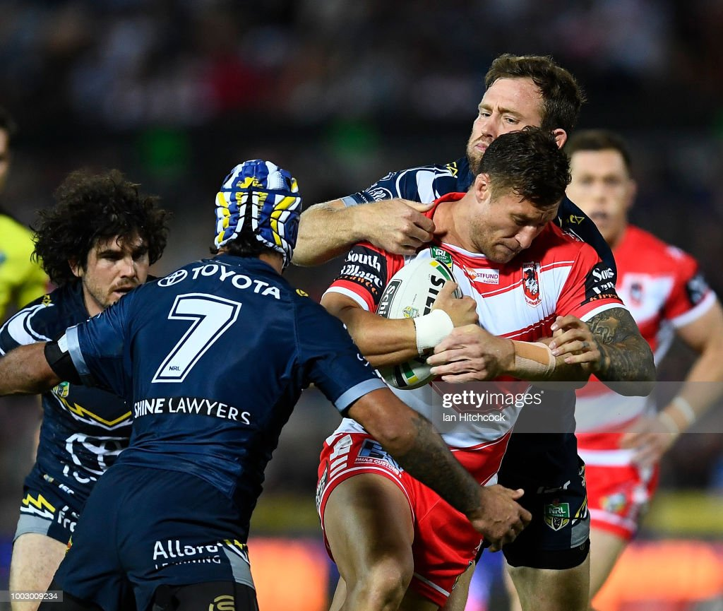 NRL Rd 19 - Cowboys v Dragons : News Photo