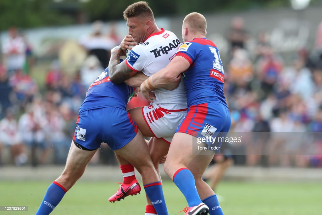 NRL Trial - Knights v Dragons : News Photo