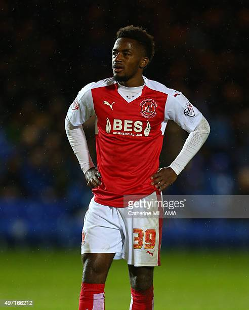 Tariqe Fosu of Fleetwood Town during the Sky Bet League One match between Peterborough United and Fleetwood Town at London Road Stadium on November...