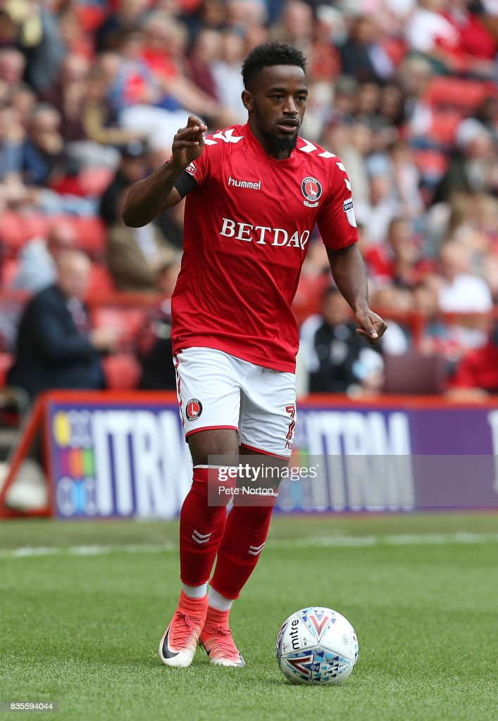 Tarique Fosu of Charlton Athletic in action during the Sky Bet League One match between Charlton Athletic and Northampton Town at The Valley on August 19, 2017 in London, England.