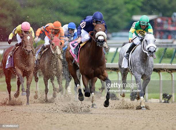 Taris, with Flavien Prat up, wins the Humana Distaff on Saturday, May 7 at Churchill Downs in Louisville, Ky.