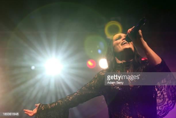Tarja Turunen performs at Huxleys Neue Welt on October 19, 2013 in Berlin, Germany.