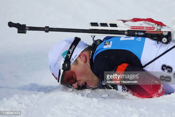 Tarjei Boe of Norway competes at the IBU Biathlon World Championships Men 20km at Swedish National Biathlon Arena on March 13, 2019 in Ostersund,...