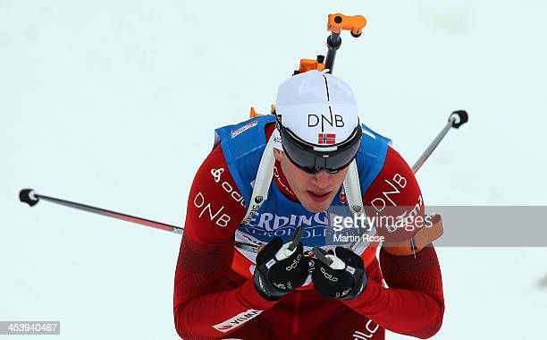 Tarjei Boe of Norway competes in the men's 10km sprint event during the IBU Biathlon World Cup on December 6 2013 in Hochfilzen Austria