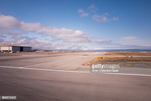 Tarmac and taxiway at San Francisco International Airport San Francisco California September 13 2017