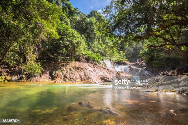 Tarnmayom waterfall in koh Chang,Thailand
