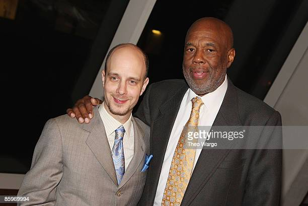 Taro Alexander Our Time Founder and Artistic Director and Howard Bingham attend the Our Time Theatre Company honoring of Howard Bingham at the Jack H...
