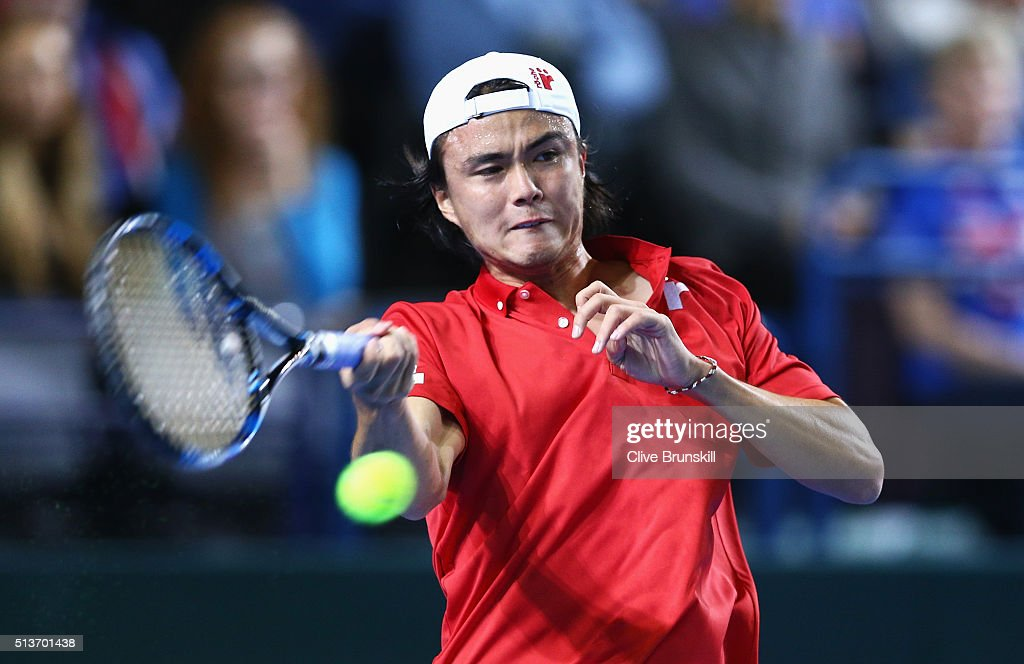 Great Britain v Japan - Davis Cup: Day One : ニュース写真