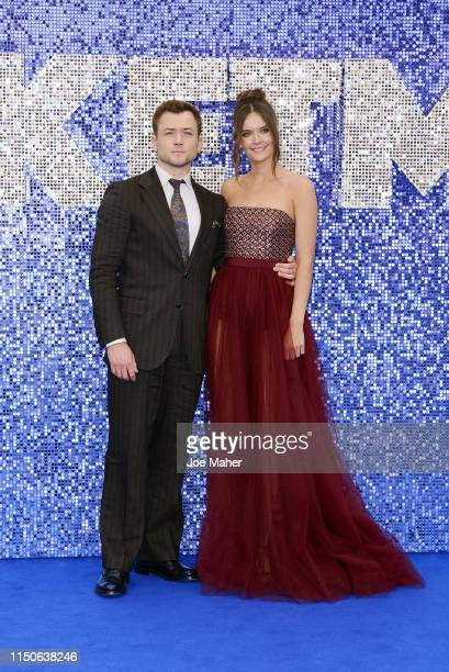 Taron Egerton and Emily Thomas attend the Rocketman UK Premiere at Odeon Leicester Square on May 20 2019 in London United Kingdom