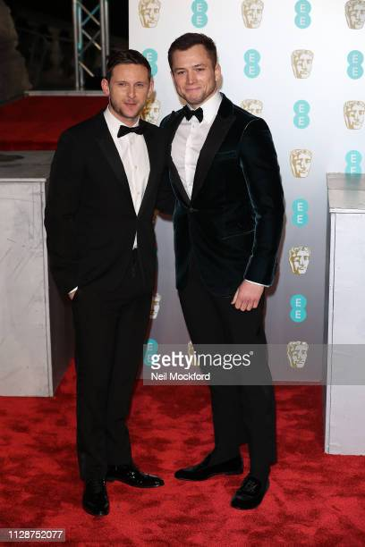 Taron Egerton and Jamie Bell attends the EE British Academy Film Awards at Royal Albert Hall on February 10 2019 in London England