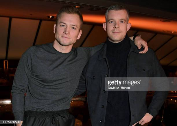 Taron Egerton and Russell Tovey attend the launch of the MR PORTER charitable fund The MR PORTER Health In Mind Fund at Quaglino's on October 10 2019...